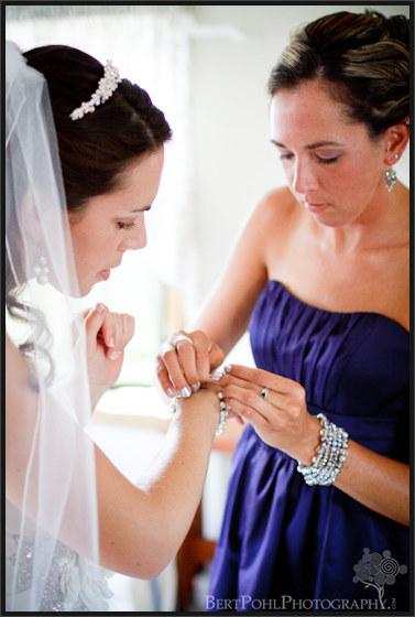 Jenny's sister helps her with details for wedding in Plessis NY