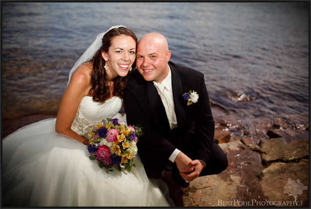 Jenny and Jade's wedding photo by the lake Thousand Islands NY area