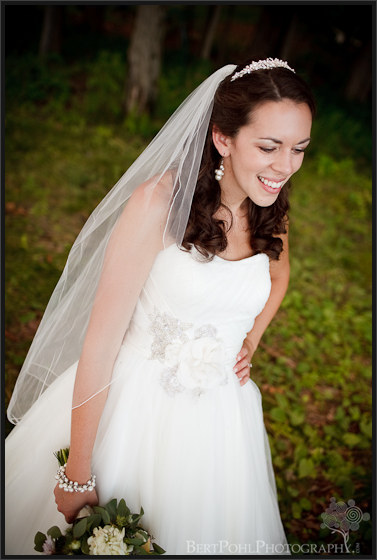 Jenny's bridal wedding photo by the lake Thousand Islands NY area
