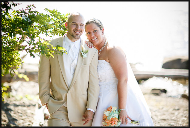 Danielle and David's romantic beach wedding pictures at Mexico Point State Park NY