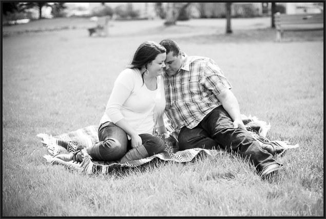 Ogdensburg NY Photography: Jenny & Judd Engagement session springtime