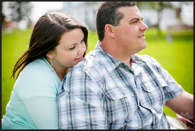 Ogdensburg NY Photographers: Jenny & Judd Engagement session near the water