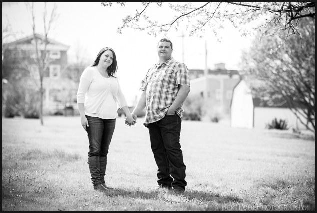 Ogdensburg NY Photographers: Jenny & Judd Engagement session springtime outdoors