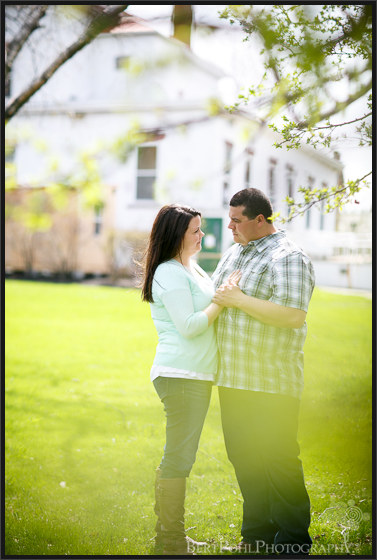 Ogdensburg NY Photographers: Jenny & Judd Engagement session springtime