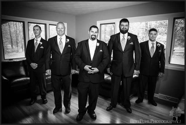 Micheal and the groomsmen ready for their wedding upstate ny wedding photography