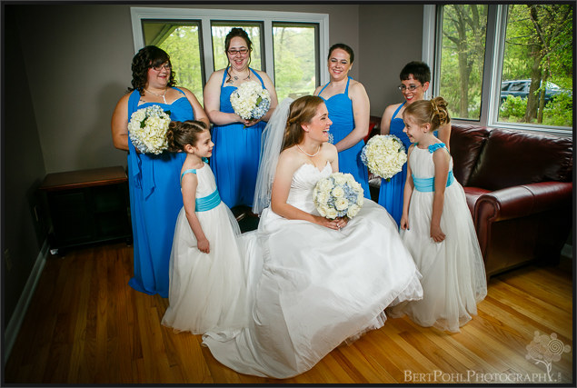 Ashley and her bridesmaides ready for their wedding upstate ny wedding photography