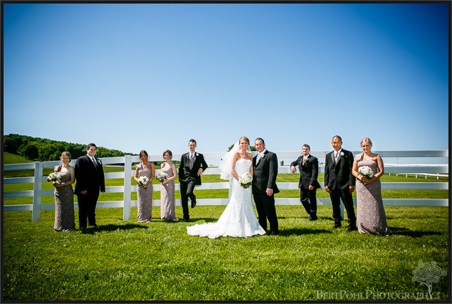 Bethany & Isaac's outdoor summer wedding with champagne color bridesmaid dresses near Lowville NY Wedding Photography