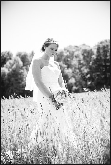 Bethany & Isaac's outdoor summer wedding photograph session  in a grassy feild near Lowville NY Wedding Photographer