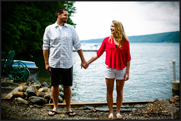 Erica & Ryan hold hands for Engagement Session at the Lakes Wedding Photographers