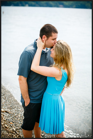 Erica & Ryan cuddle for their Engagement Session at the Lakes Wedding Photographers