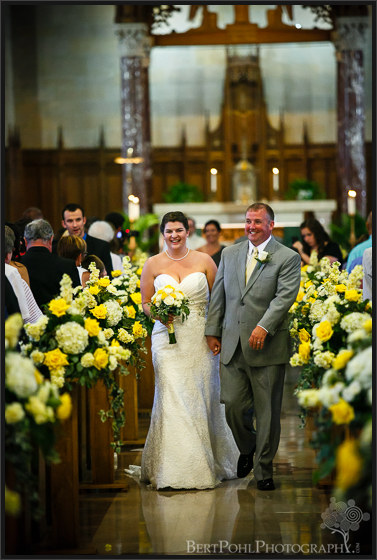 Julia & John's wedding ceremony pictures in Ogdensburg NY Wedding Photographers