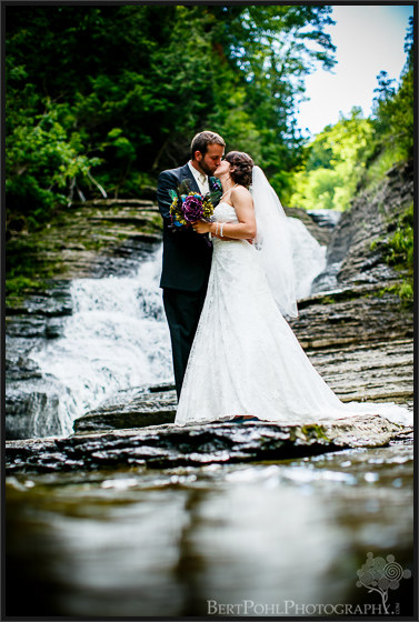 Ariel & Jeff's summer wedding photos at  Wittaker Falls Wedding Photographers