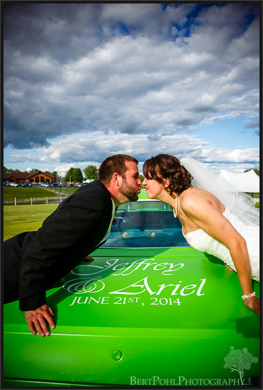 Ariel & Jeff's demolition car details at their wedding at Ridgeview Inn Lowville NY Wedding Photographers