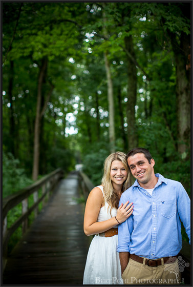 Danielle & Jordan's late summer beach engagement sesson at Black Pond Engagement Photography