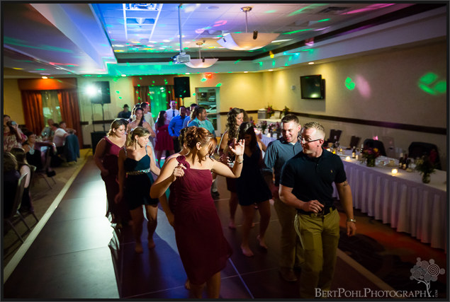 Jen & Randy's wedding reception at The Hilton Garden Inn Watertown NY Wedding Photographer