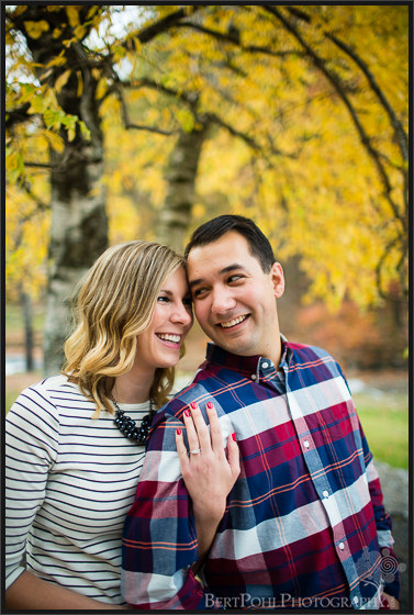 Beth and Brian's outdoor autumn photo session at Whetstone Gulf State Park Engagement Photos Watertown NY Wedding Photographers