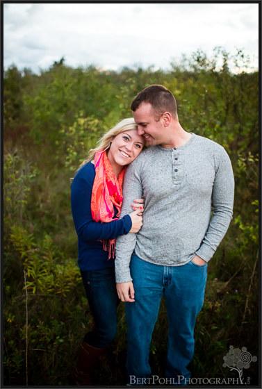 Brittany & Mark's autumn engagement session at Madison Barracks Sackets Harbor NY Engagement Photographers