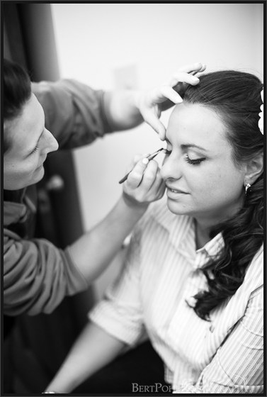 Julia preparing for her vintage glamour wedding photographers near lowville ny