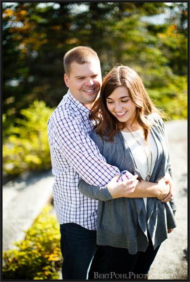 Jordan and Evan's Whiteface Mountain Autumn Mountain Engagement Photographers Upstate NY