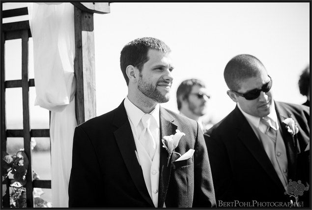 Manyd & Mike's autumnwedding ceremony at tug hill vineyards wedding photographers