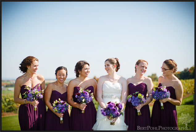 Manyd & Mike's autumnwedding ceremony at tug hill vineyards wedding photographers