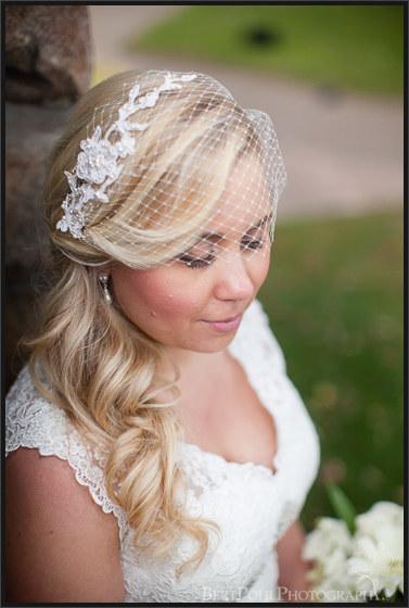 Heather & Joshua's vintage styled wedding with birdcage veil at Boldt Castle Thousand Island Wedding Photographers
