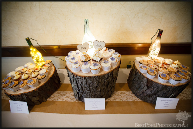 Mandy & Mike's autumn rustic wedding cake Watertown NY wedding photographers