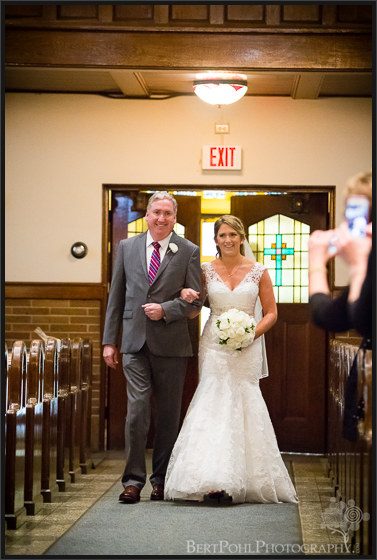 Erica & Ryan's wedding ceremony for their autumn wedding Watertown New York Wedding Photographers