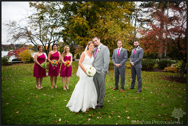 Erica & Ryan in the park for their autumn wedding Watertown New York Wedding Photographers