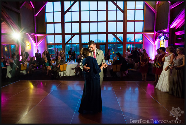 Erica & Ryan's wedding reception at The Lodge at Welch Allyn Upstate New York Wedding Photographer