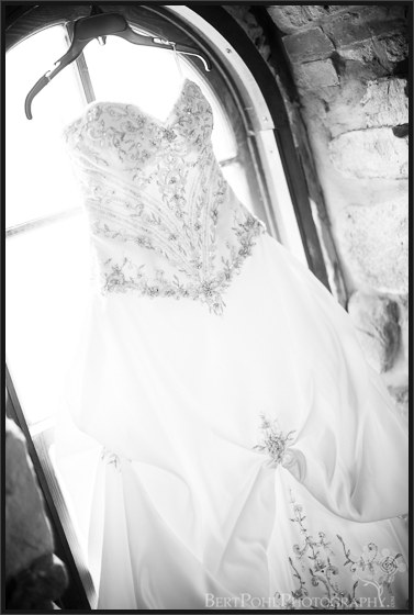 Tara's strapless princess styled wedding dress Boldt Castle Wedding Photographer