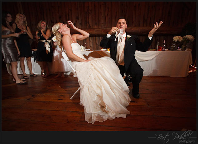Raelynn & Don wedding garder toss