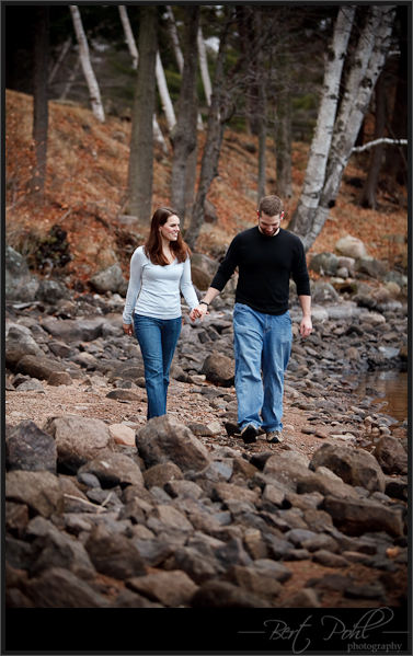 Erin & Kyle Engagement photographer cranberry lake, ny