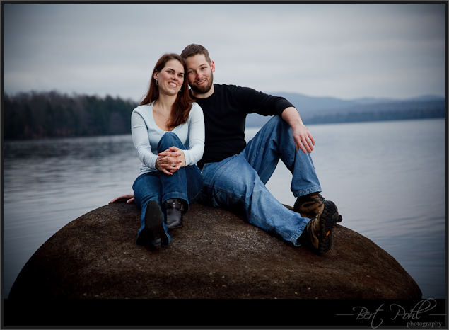 Erin & Kyle Engagement photography Adirondacks ny