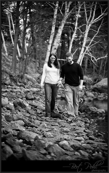 Erin and Kyle engagement photography upstate new york