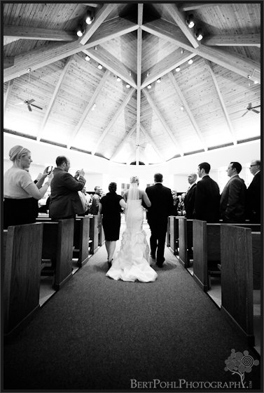 Jessica & Bill wedding processional Fort Drum NY